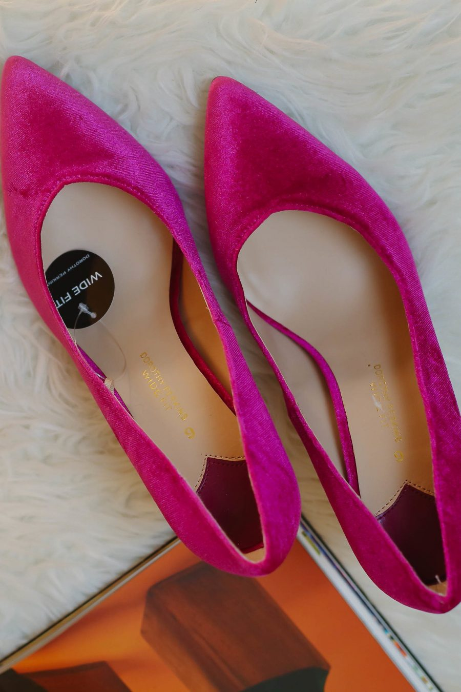 Fuschia Pink Wide Fit Heels