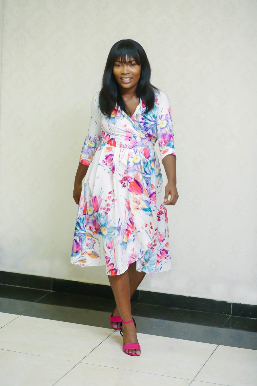 Belted Floral Dress with Side Pockets 5