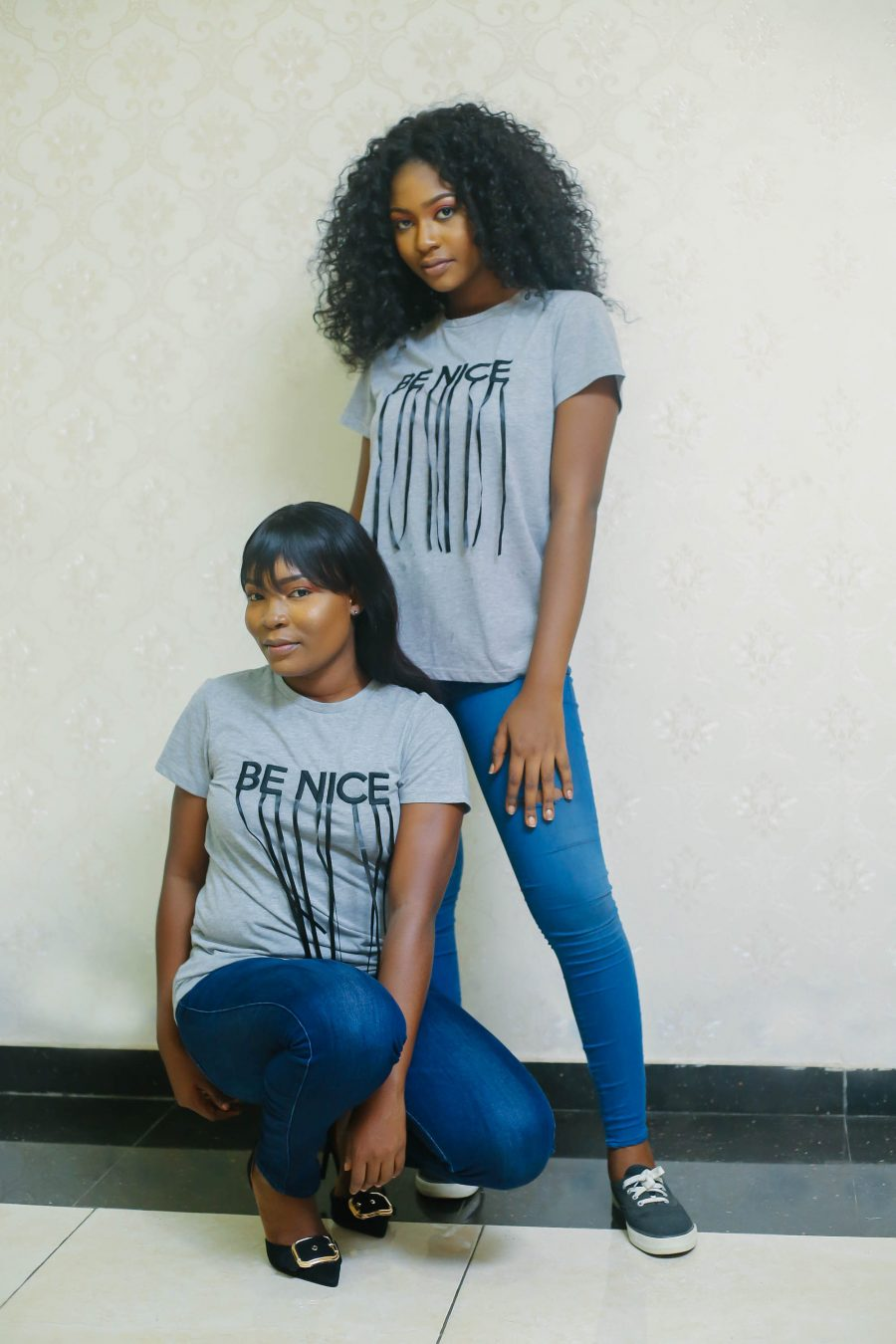 Grey Be Nice Fringe Tee 8