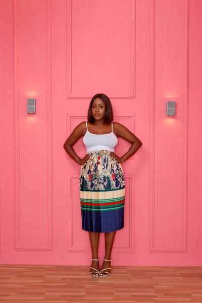 CHARACTER PLEAT SKIRT