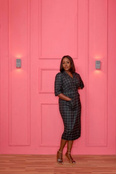 PLUS SIZE ELISEV GRID DRESS